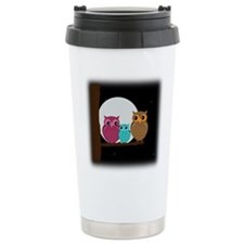 Family of Owls Travel Mug