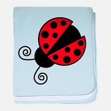 Red Ladybug 1 baby blanket