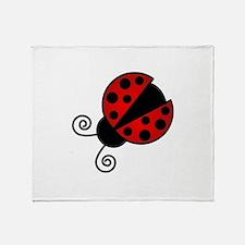 Red Ladybug 1 Throw Blanket