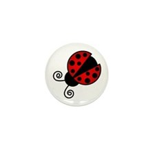 Red Ladybug 1 Mini Button (10 pack)