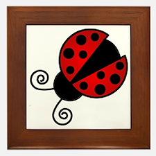 Red Ladybug 1 Framed Tile