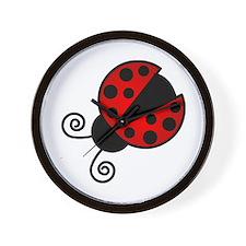 Red Ladybug 1 Wall Clock