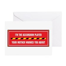 I'm the Accordion Player Greeting Cards (Package o