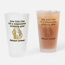 Complicated drinking game Drinking Glass