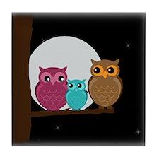 Family of Owls Tile Coaster
