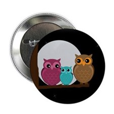"""Family of Owls 2.25"""" Button"""