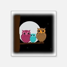 Family of Owls Sticker