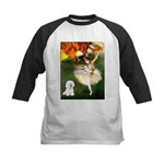 Ballet Dancer & Bichon Kids Baseball Jersey
