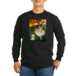 Ballet Dancer & Bichon Long Sleeve Dark T-Shirt