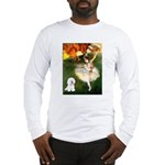 Ballet Dancer & Bichon Long Sleeve T-Shirt
