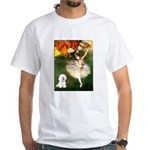 Ballet Dancer & Bichon White T-Shirt