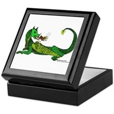 Flamin' Green Dragon Keepsake Box