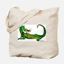 Flamin' Green Dragon Tote Bag