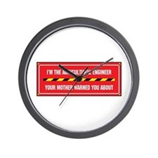 I'm the Agricultural Engineer Wall Clock