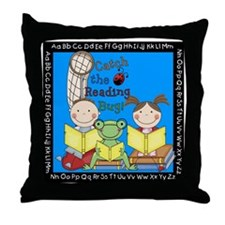 Catch the Reading Bug Throw Pillow