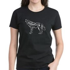 Tribal Howling Wolf T-Shirt