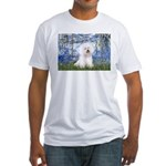 Lilies (6) & Bichon Fitted T-Shirt