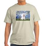 Lilies (6) & Bichon Light T-Shirt