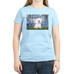 Lilies (6) & Bichon Women's Light T-Shirt