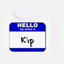hello my name is kip  Greeting Cards (Pk of 10