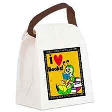 Book Worm I Love Books Canvas Lunch Bag