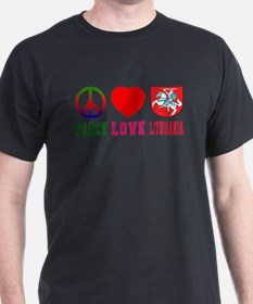 Peace Love Lithuania T-Shirt