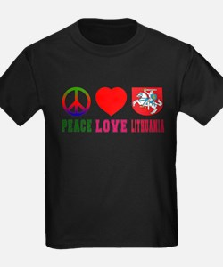 Peace Love Lithuania T