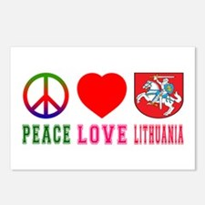 Peace Love Lithuania Postcards (Package of 8)