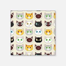 Cattitude - Cute Cat Expressions Pattern Sticker