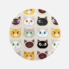 """Cattitude - Cute Cat Expressions Pattern 3.5"""" Butt"""