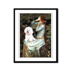 Ophelia & Bichon Framed Panel Print