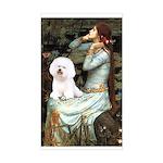 Ophelia & Bichon Sticker (Rectangle)