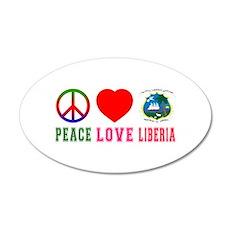 Peace Love Liberia Wall Decal