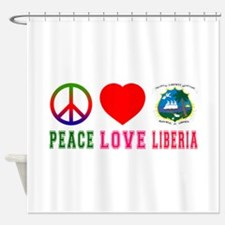 Peace Love Liberia Shower Curtain