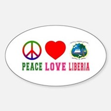 Peace Love Liberia Decal