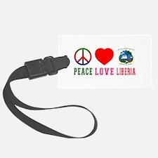 Peace Love Lithuania Luggage Tag