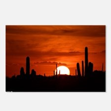 Sunset Red (Large) Postcards (Package of 8)