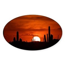 Sunset Red (Large) Decal