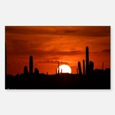 Sunset Red (Large) Sticker (Rectangle)