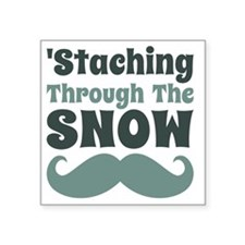 "Staching Through The Snow F Square Sticker 3"" x 3"""