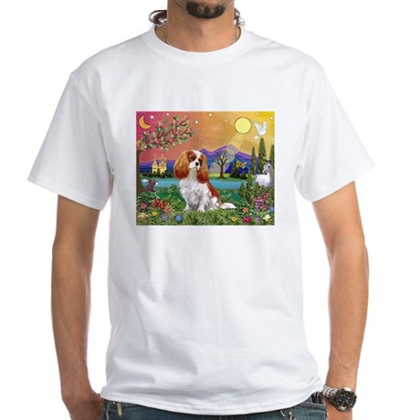Cavalier King Charles White T-Shirt