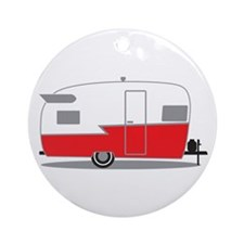 Cute Trailer park Ornament (Round)