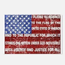 Flag and Pledge Postcards (Package of 8)