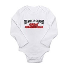 """The World's Greatest Great Grandchild"" Body Suit"