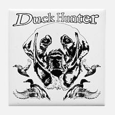 Duck Hunter Labrador Tile Coaster