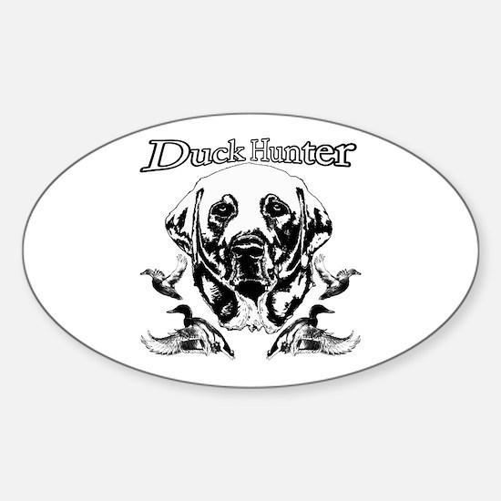 Duck Hunter Labrador Sticker (Oval)