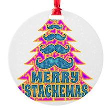Funny Psychadelic Hippie Mustache C Ornament