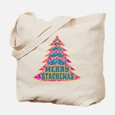Funny Psychadelic Hippie Mustache Christm Tote Bag