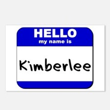 hello my name is kimberlee  Postcards (Package of