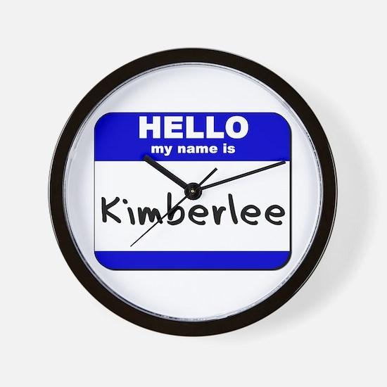 hello my name is kimberlee  Wall Clock